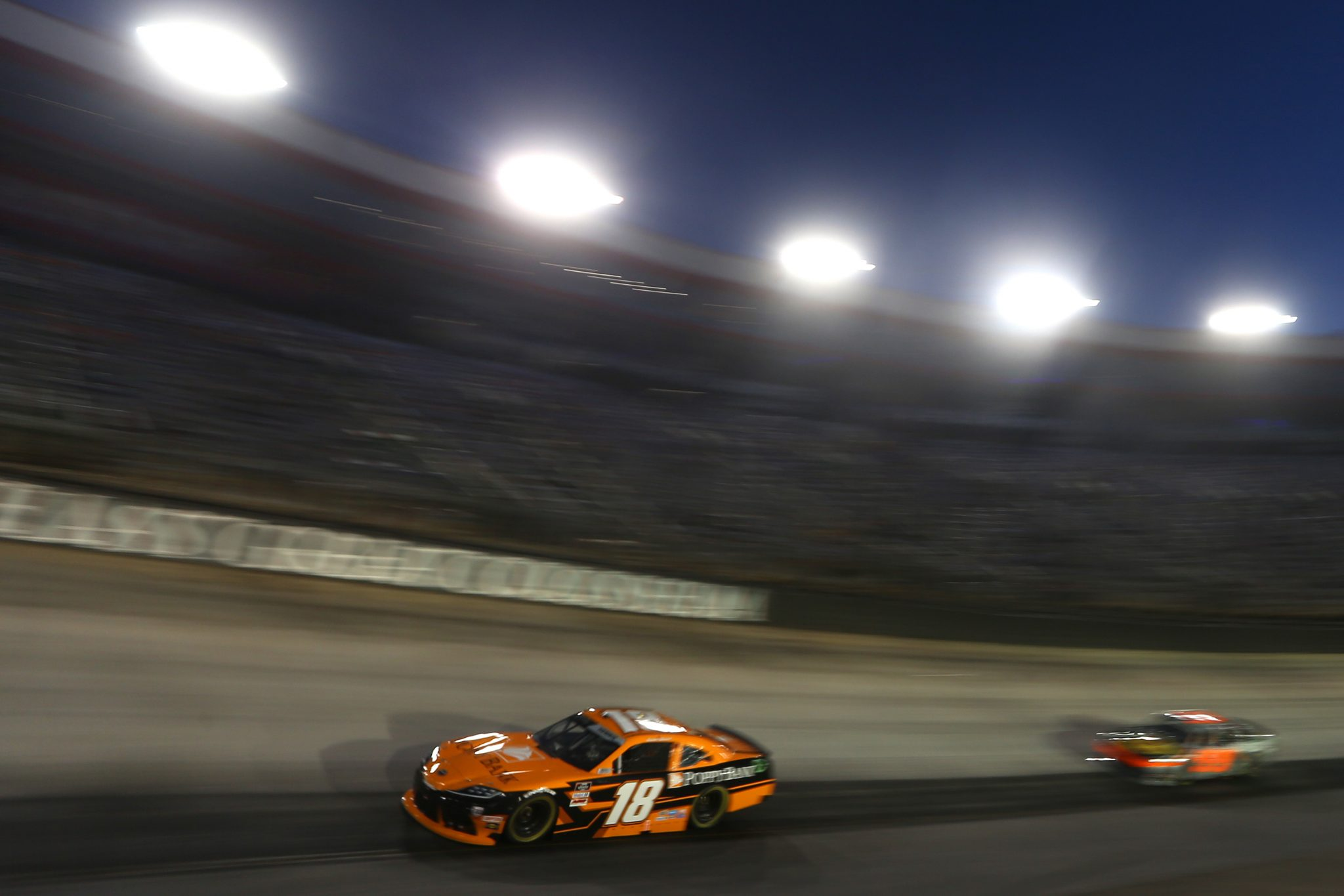 BRISTOL, TENNESSEE - SEPTEMBER 17: Daniel Hemric, driver of the #18 Poppy Bank Toyota, drives during the NASCAR Xfinity Series Food City 300 at Bristol Motor Speedway on September 17, 2021 in Bristol, Tennessee. (Photo by Brian Lawdermilk/Getty Images) | Getty Images