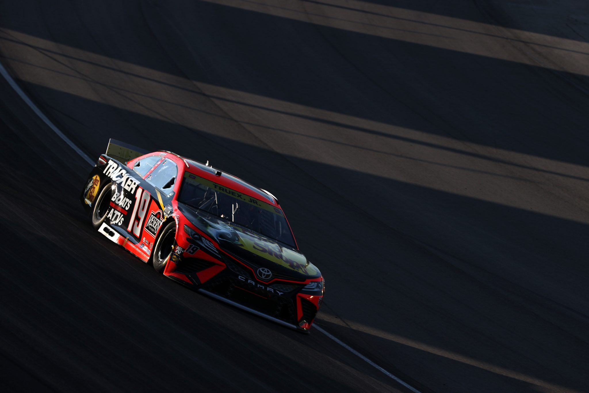 LAS VEGAS, NEVADA - SEPTEMBER 26: Martin Truex Jr., driver of the #19 Bass Pro Shops Toyota, drives during the NASCAR Cup Series South Point 400 at Las Vegas Motor Speedway on September 26, 2021 in Las Vegas, Nevada. (Photo by Meg Oliphant/Getty Images) | Getty Images