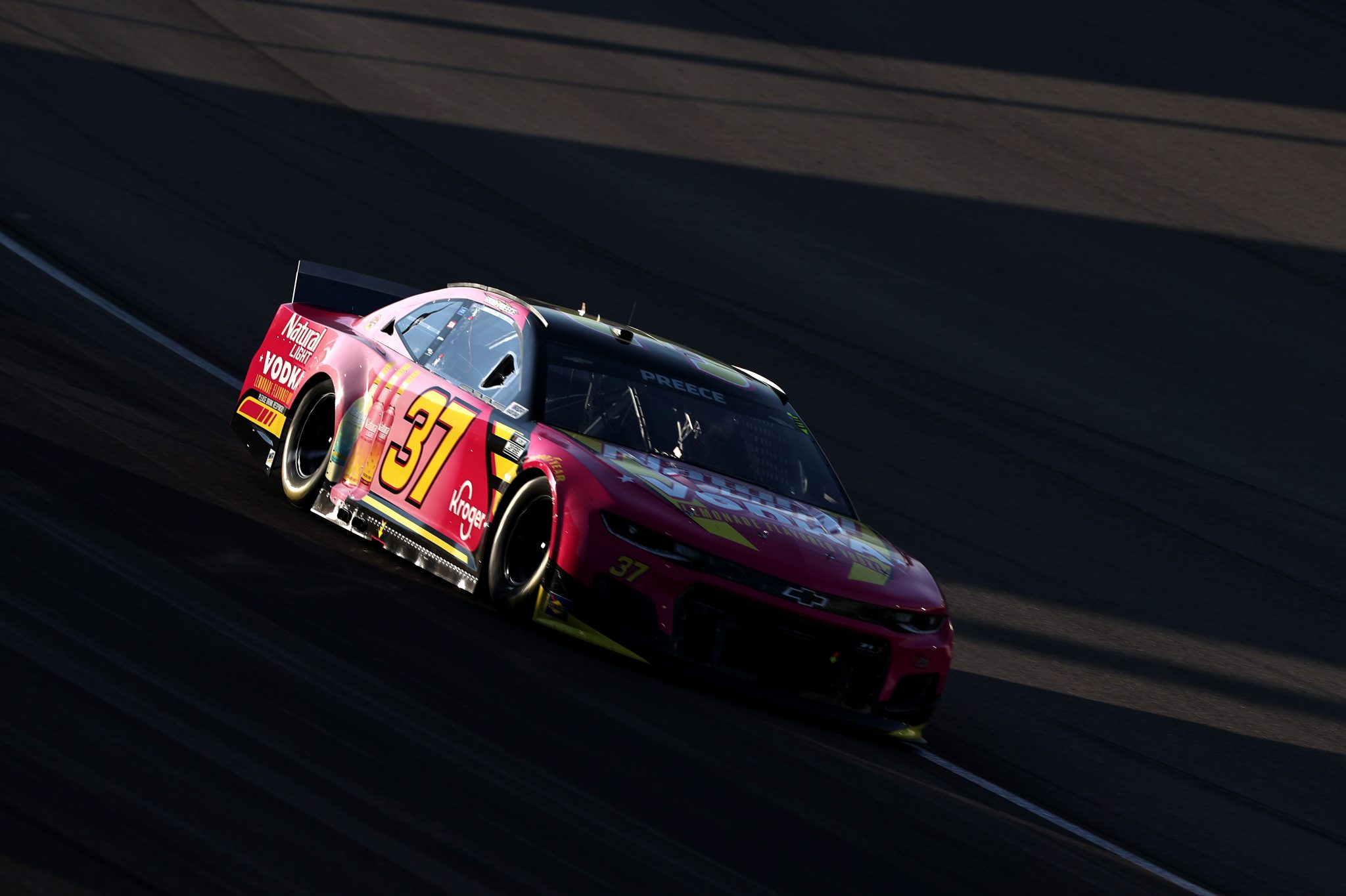 LAS VEGAS, NEVADA - SEPTEMBER 26:  Ryan Preece, driver of the #37 Natural Light Vodka Chevrolet, drives during the NASCAR Cup Series South Point 400 at Las Vegas Motor Speedway on September 26, 2021 in Las Vegas, Nevada. (Photo by Meg Oliphant/Getty Images) | Getty Images