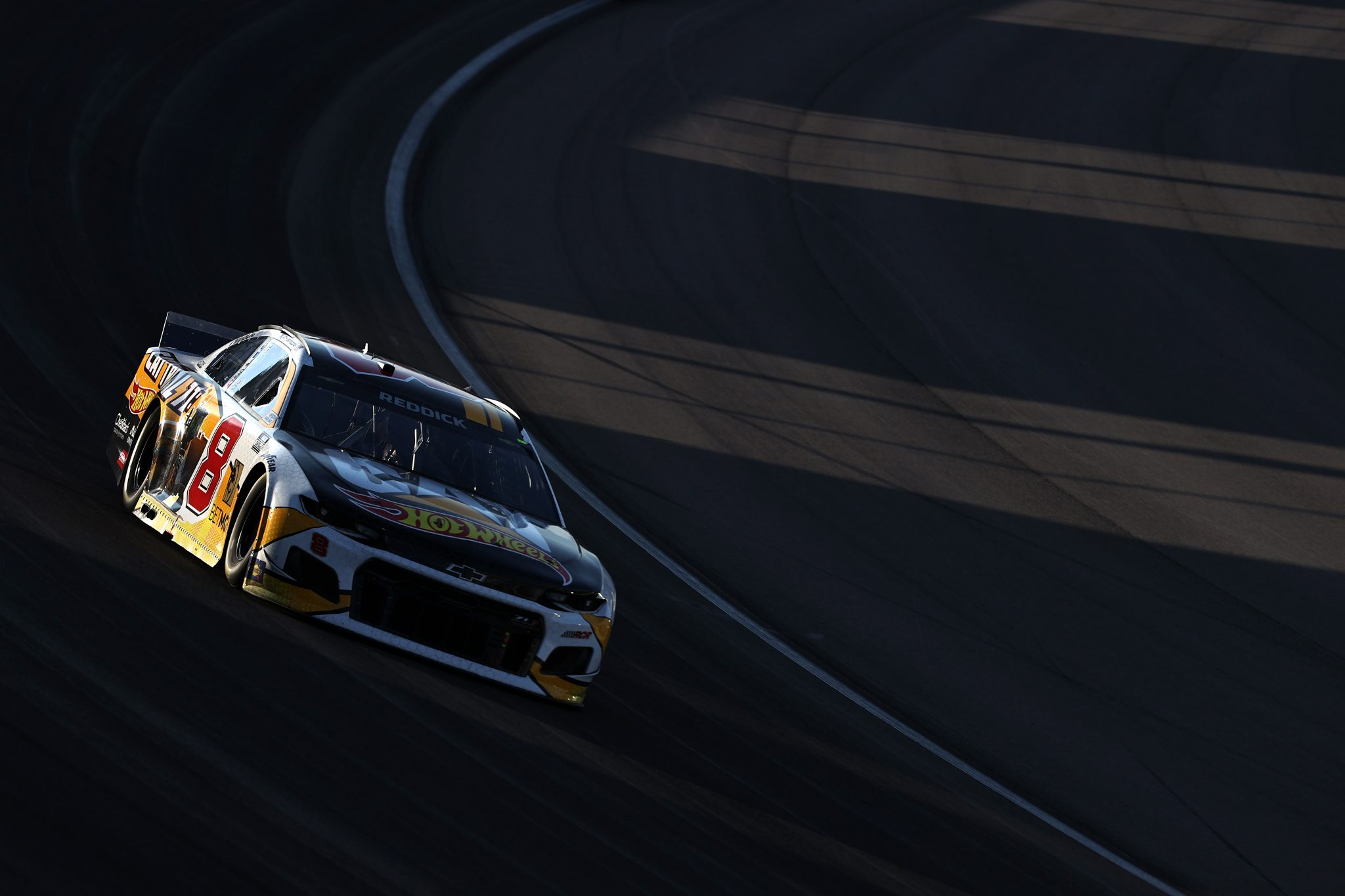 LAS VEGAS, NEVADA - SEPTEMBER 26: Tyler Reddick, driver of the #8 Cat Trial 11:Hot Wheels Chevrolet, drives during the NASCAR Cup Series South Point 400 at Las Vegas Motor Speedway on September 26, 2021 in Las Vegas, Nevada. (Photo by Meg Oliphant/Getty Images)   Getty Images
