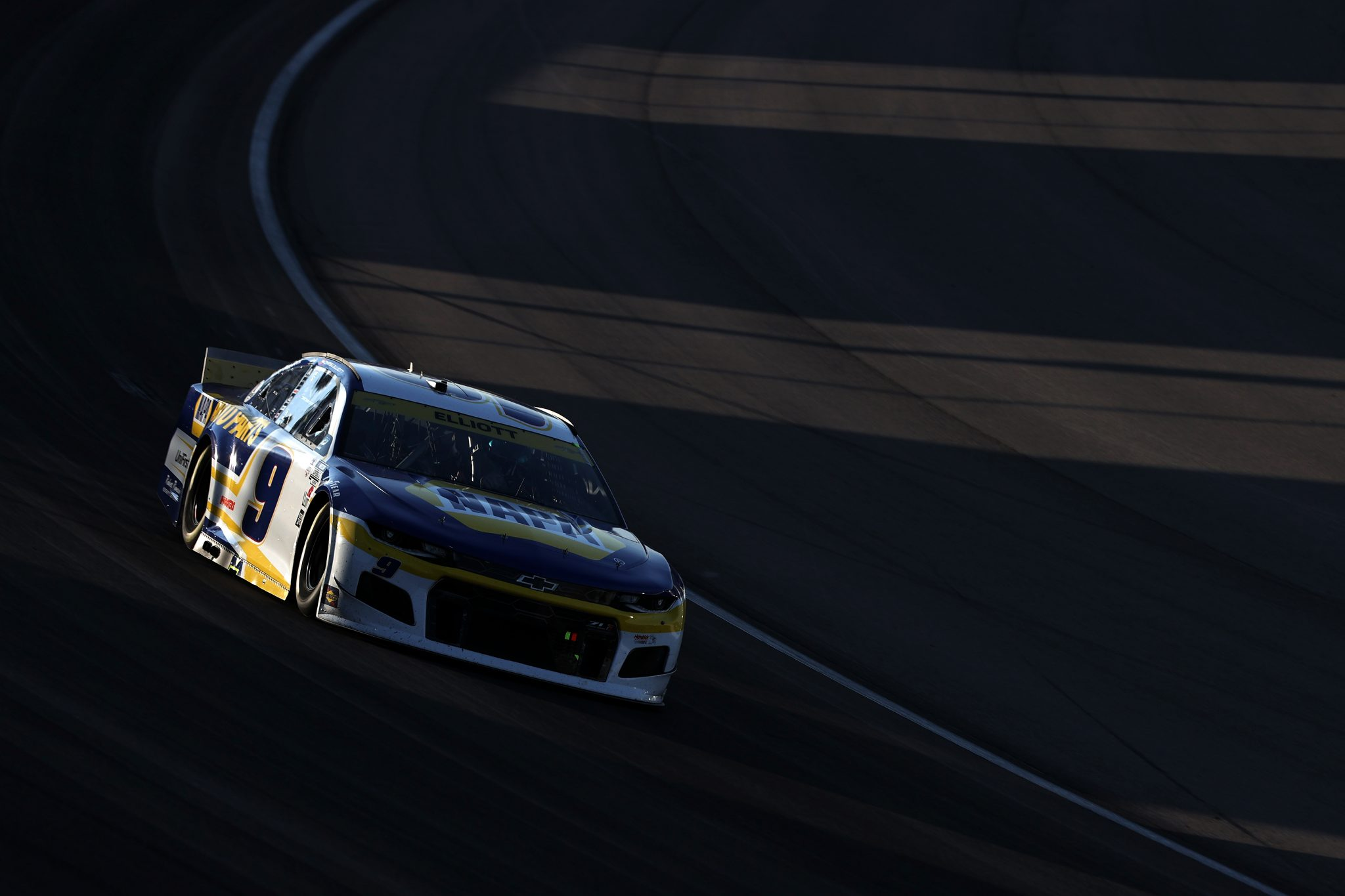 LAS VEGAS, NEVADA - SEPTEMBER 26: Chase Elliott, driver of the #9 NAPA Auto Parts Chevrolet, drives during the NASCAR Cup Series South Point 400 at Las Vegas Motor Speedway on September 26, 2021 in Las Vegas, Nevada. (Photo by Meg Oliphant/Getty Images)   Getty Images