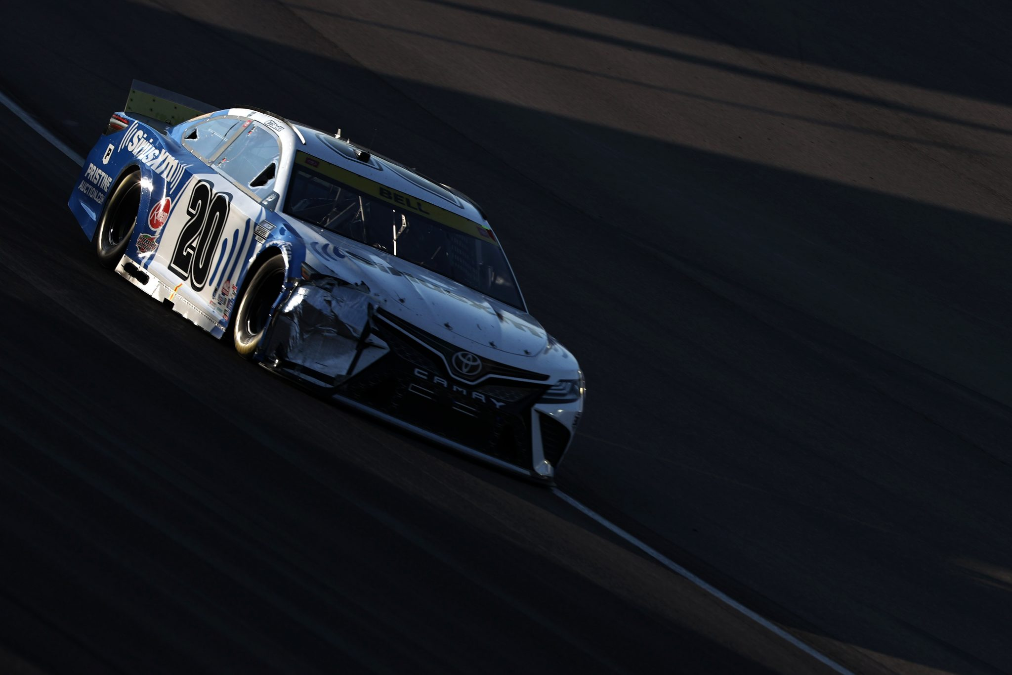 LAS VEGAS, NEVADA - SEPTEMBER 26: Christopher Bell, driver of the #20 SiriusXM Toyota, drives during the NASCAR Cup Series South Point 400 at Las Vegas Motor Speedway on September 26, 2021 in Las Vegas, Nevada. (Photo by Meg Oliphant/Getty Images) | Getty Images