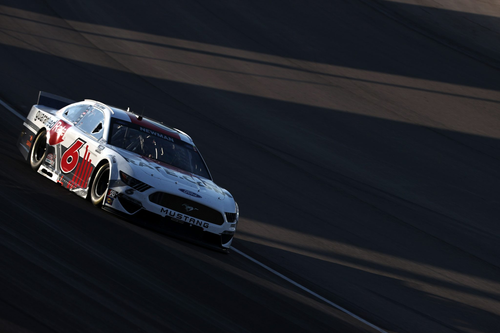 LAS VEGAS, NEVADA - SEPTEMBER 26: Ryan Newman, driver of the #6 Guaranteed Rate Ford, drives during the NASCAR Cup Series South Point 400 at Las Vegas Motor Speedway on September 26, 2021 in Las Vegas, Nevada. (Photo by Meg Oliphant/Getty Images) | Getty Images