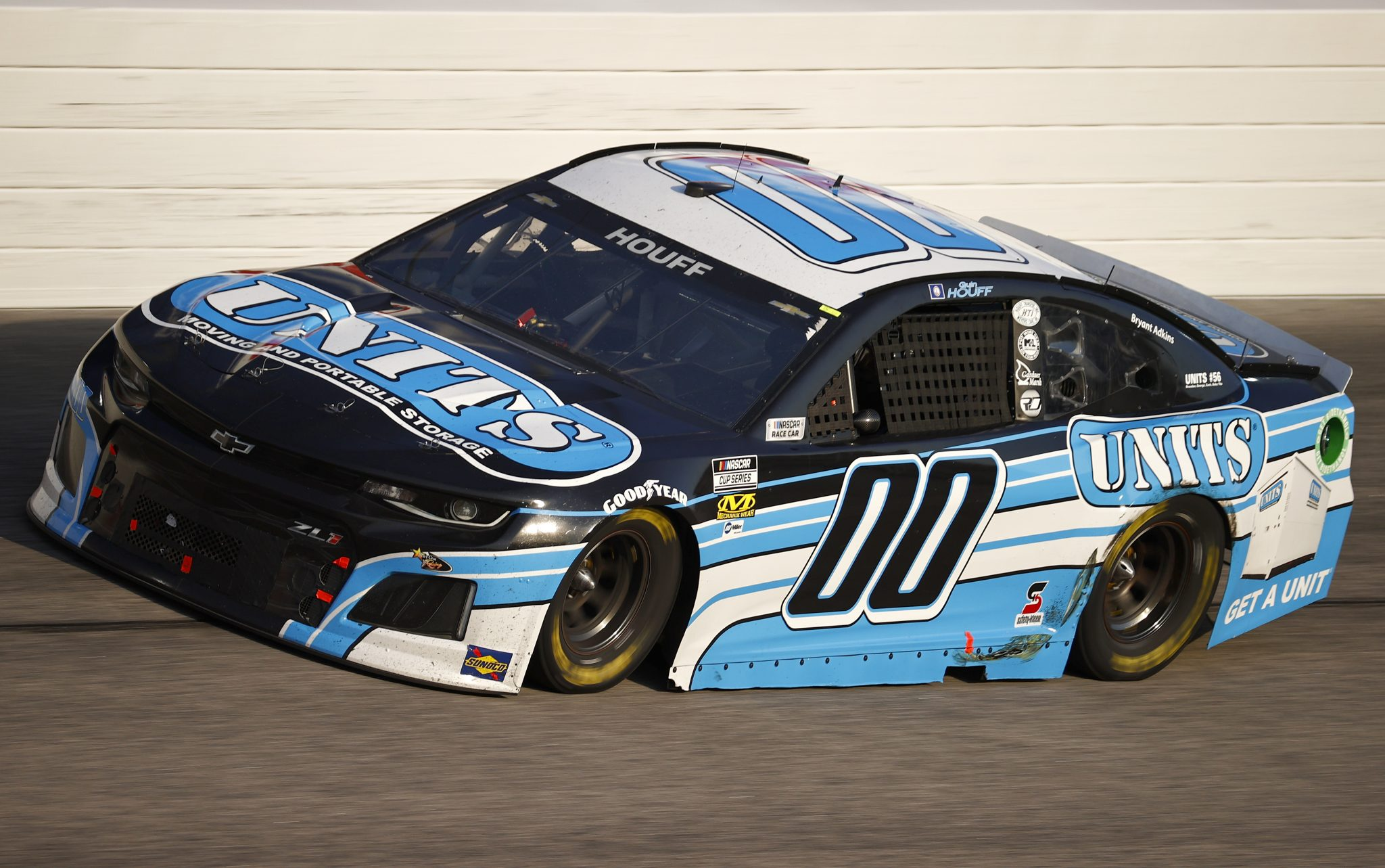 DARLINGTON, SOUTH CAROLINA - SEPTEMBER 05: Quin Houff, driver of the #00 UNITS Chevrolet, drives during the NASCAR Cup Series Cook Out Southern 500 at Darlington Raceway on September 05, 2021 in Darlington, South Carolina. (Photo by Jared C. Tilton/Getty Images)   Getty Images