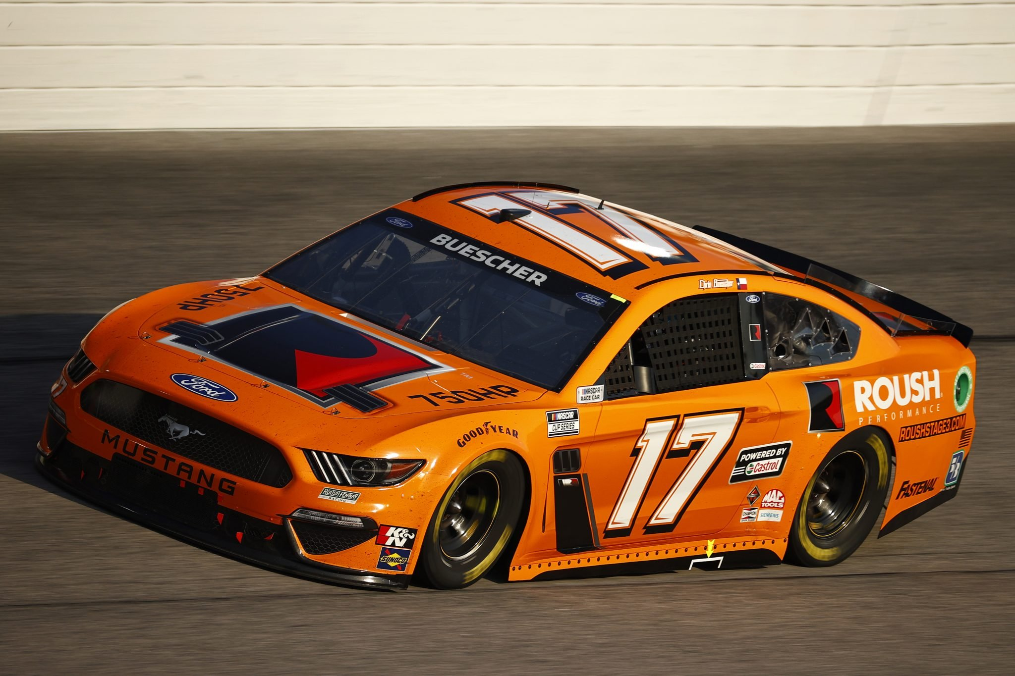 DARLINGTON, SOUTH CAROLINA - SEPTEMBER 05: Chris Buescher, driver of the #17 Roush Performance Ford, drives during the NASCAR Cup Series Cook Out Southern 500 at Darlington Raceway on September 05, 2021 in Darlington, South Carolina. (Photo by Jared C. Tilton/Getty Images) | Getty Images
