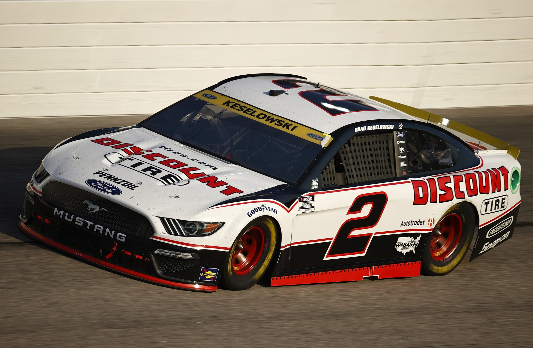 DARLINGTON, SOUTH CAROLINA - SEPTEMBER 05: Brad Keselowski, driver of the #2 Discount Tire Ford, drives during the NASCAR Cup Series Cook Out Southern 500 at Darlington Raceway on September 05, 2021 in Darlington, South Carolina. (Photo by Jared C. Tilton/Getty Images)   Getty Images