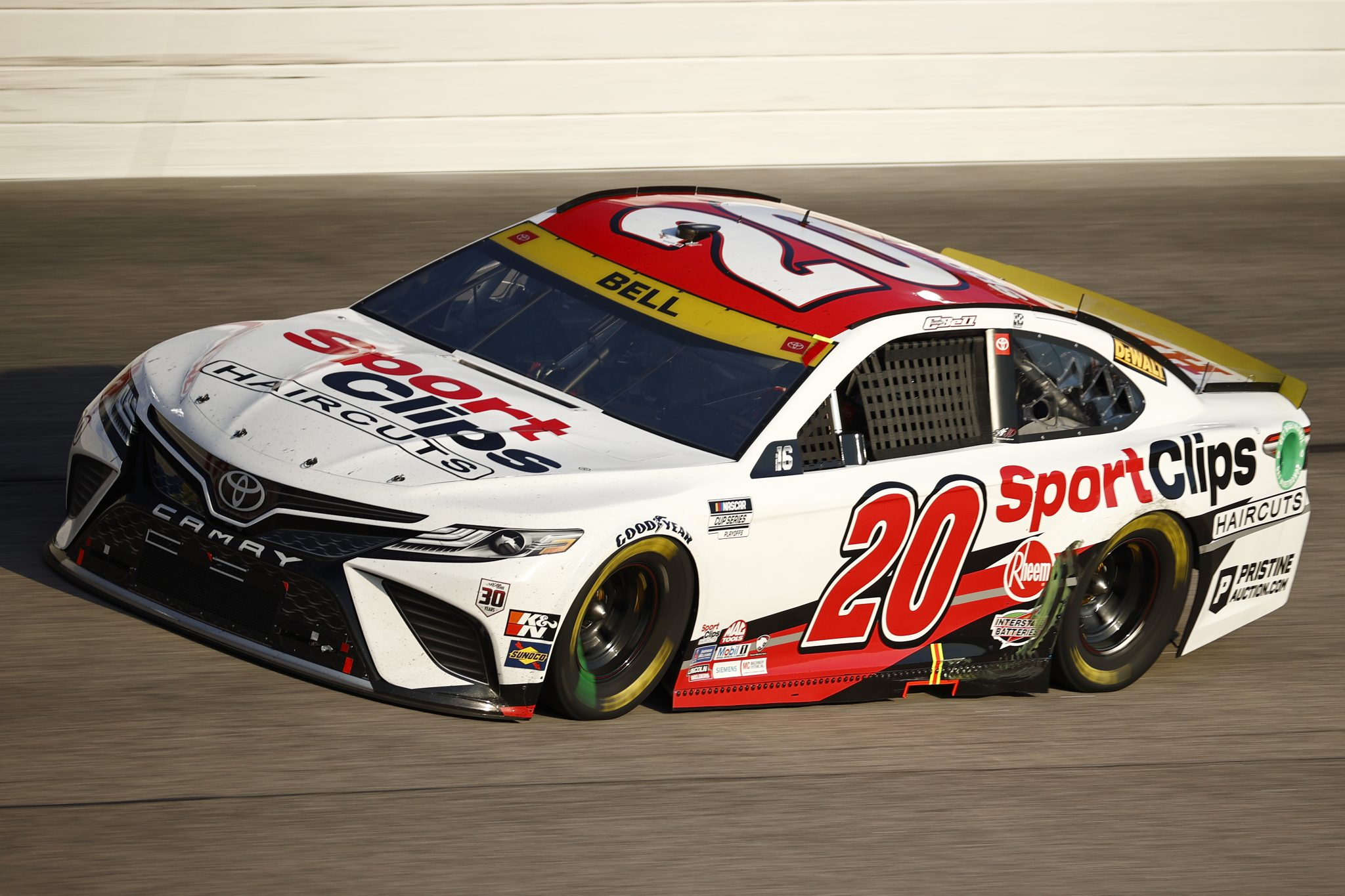 DARLINGTON, SOUTH CAROLINA - SEPTEMBER 05: Christopher Bell, driver of the #20 Sport Clips Haircuts Toyota, drives during the NASCAR Cup Series Cook Out Southern 500 at Darlington Raceway on September 05, 2021 in Darlington, South Carolina. (Photo by Jared C. Tilton/Getty Images) | Getty Images