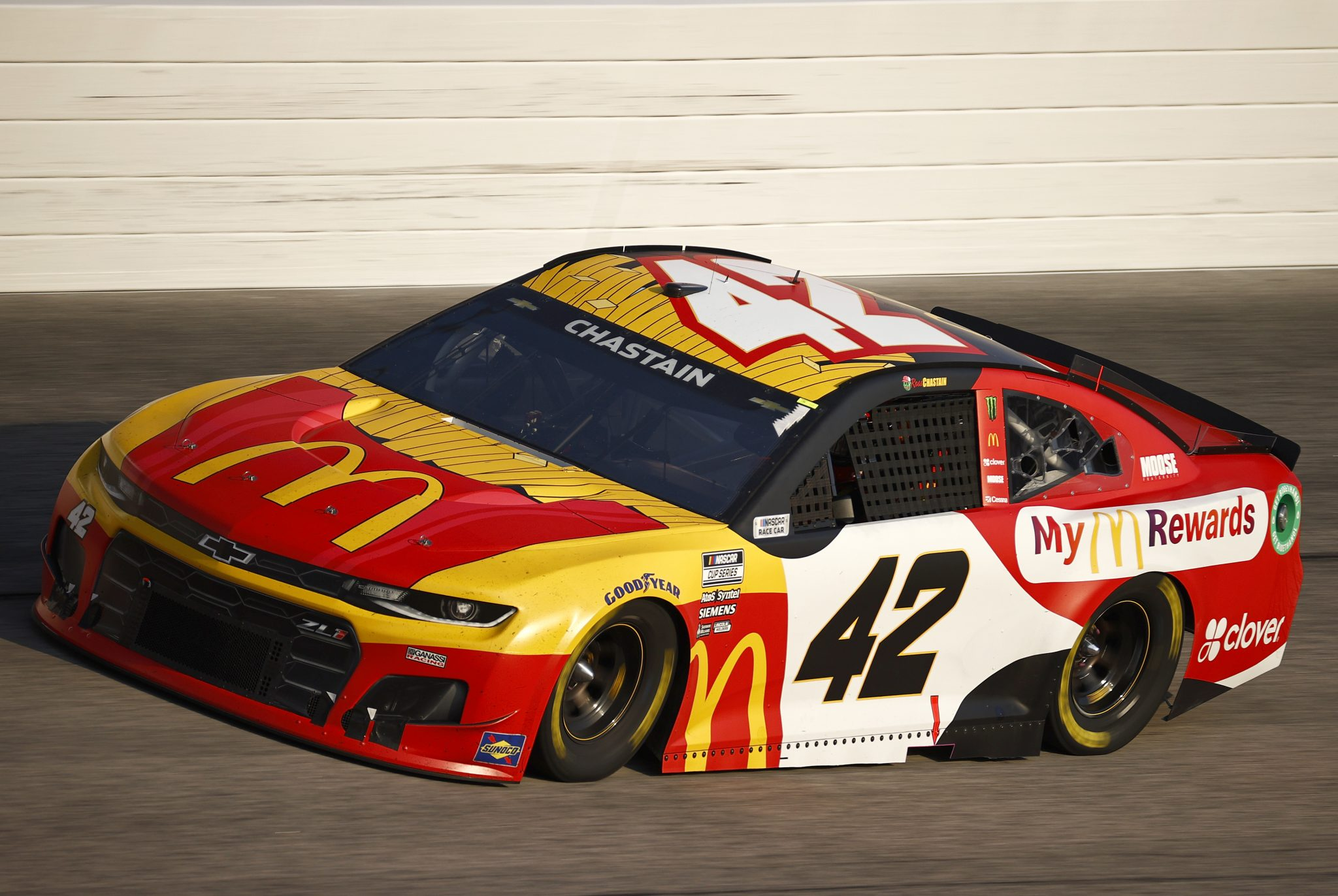 DARLINGTON, SOUTH CAROLINA - SEPTEMBER 05: Ross Chastain, driver of the #42 McDonald's Chevrolet, drives during the NASCAR Cup Series Cook Out Southern 500 at Darlington Raceway on September 05, 2021 in Darlington, South Carolina. (Photo by Jared C. Tilton/Getty Images) | Getty Images