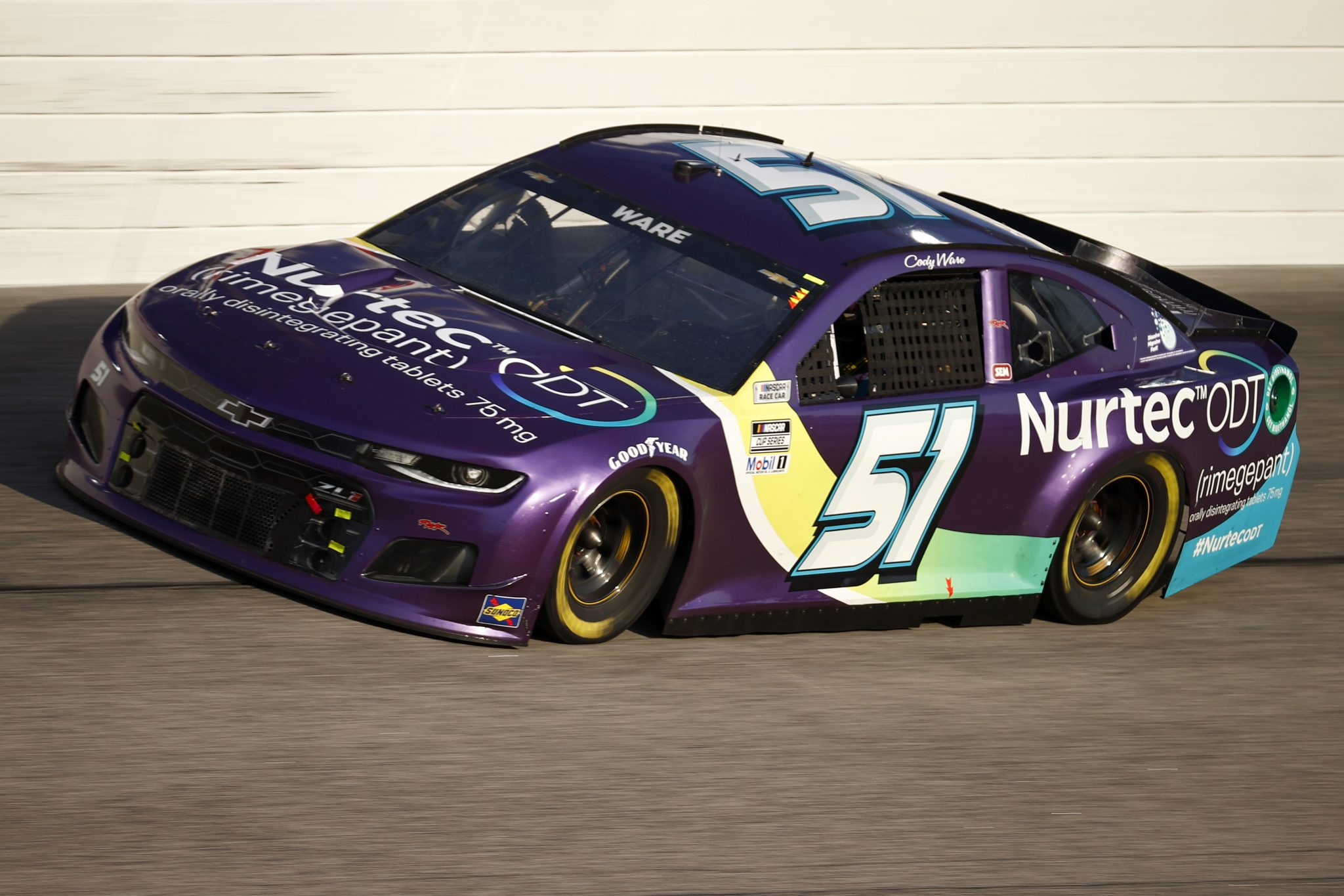 DARLINGTON, SOUTH CAROLINA - SEPTEMBER 05: Cody Ware, driver of the #51 Nurtec ODT Chevrolet, drives during the NASCAR Cup Series Cook Out Southern 500 at Darlington Raceway on September 05, 2021 in Darlington, South Carolina. (Photo by Jared C. Tilton/Getty Images) | Getty Images