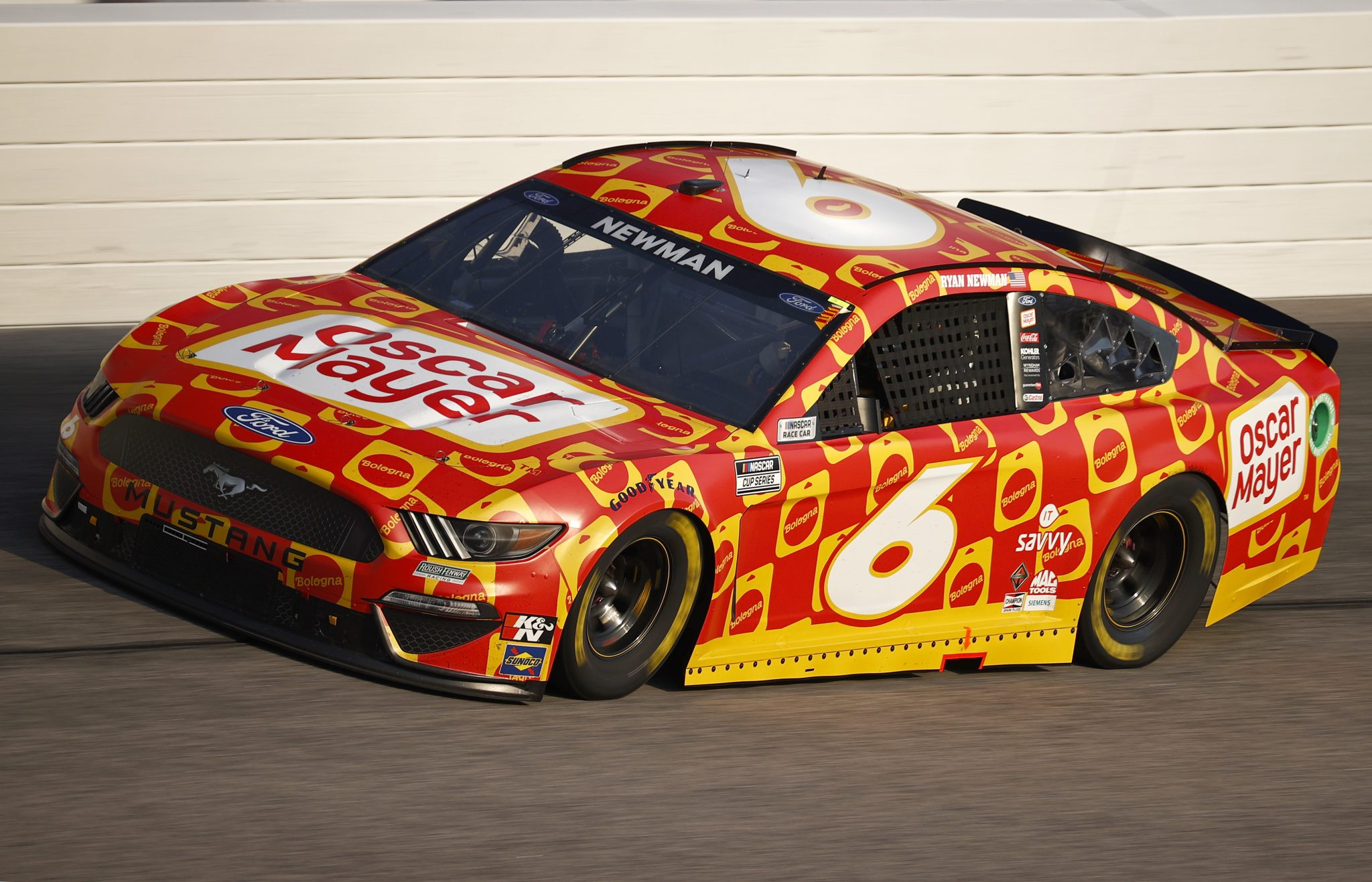 DARLINGTON, SOUTH CAROLINA - SEPTEMBER 05: Ryan Newman, driver of the #6 Oscar Mayer Bologna Ford, drives during the NASCAR Cup Series Cook Out Southern 500 at Darlington Raceway on September 05, 2021 in Darlington, South Carolina. (Photo by Jared C. Tilton/Getty Images) | Getty Images