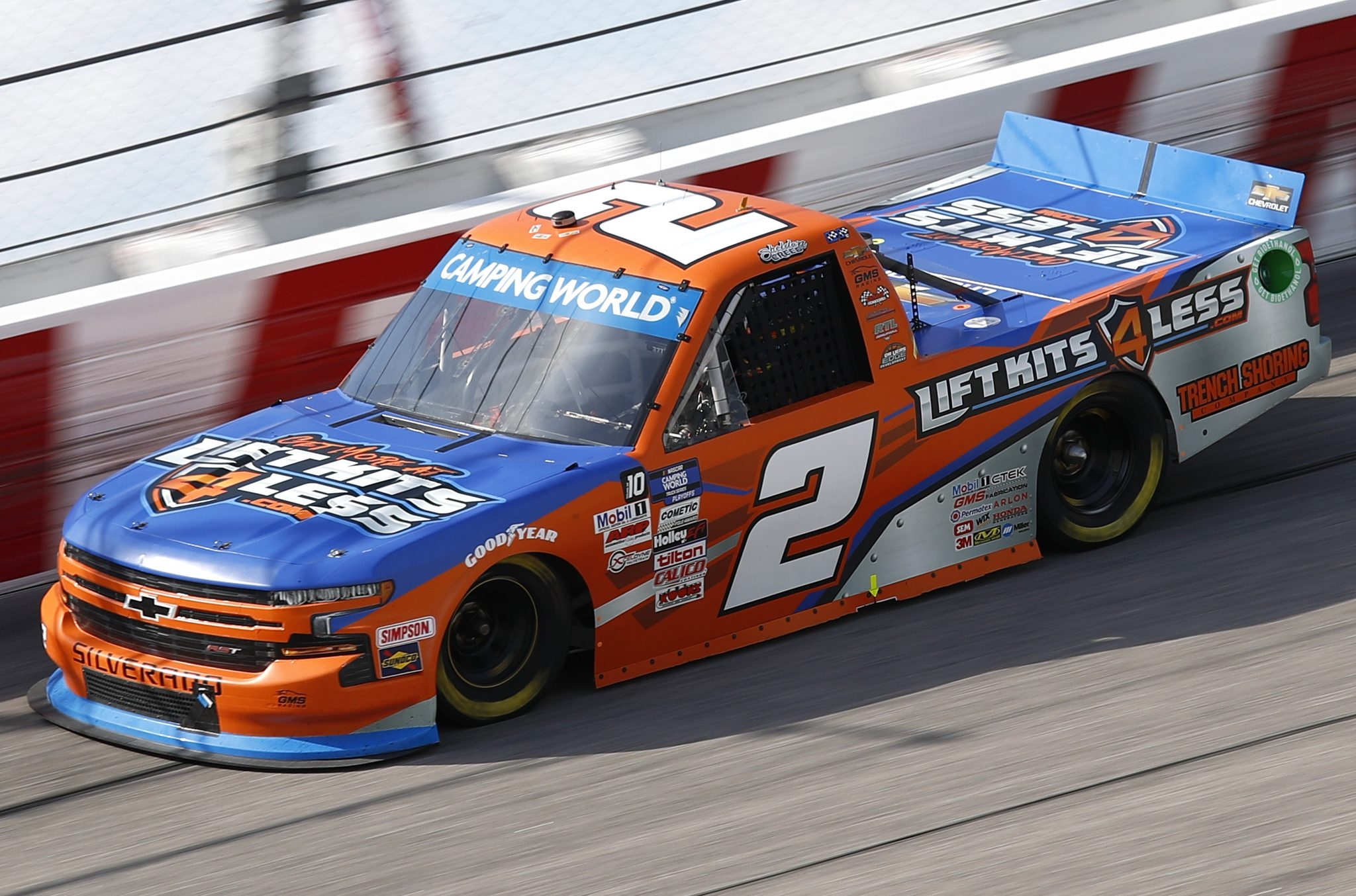DARLINGTON, SOUTH CAROLINA - SEPTEMBER 05: Sheldon Creed, driver of the #2 Liftkits4less.com Chevrolet, drives during the NASCAR Camping World Truck Series In It To Win It 200 at Darlington Raceway on September 05, 2021 in Darlington, South Carolina. (Photo by Jared East/Getty Images)   Getty Images