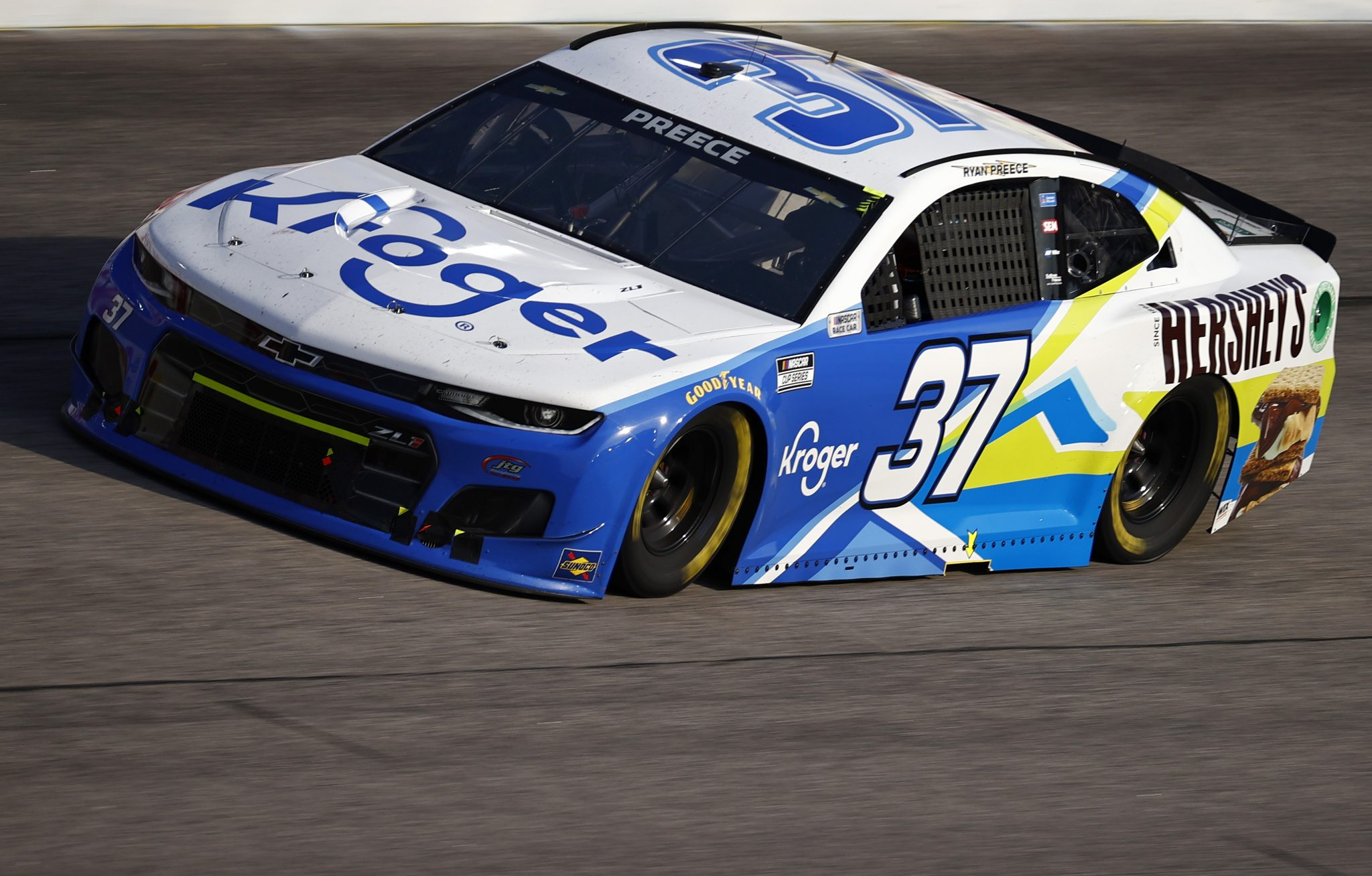 DARLINGTON, SOUTH CAROLINA - SEPTEMBER 05: Ryan Preece, driver of the #37 Kroger/Hershey's S'mores Chevrolet, drives during the NASCAR Cup Series Cook Out Southern 500 at Darlington Raceway on September 05, 2021 in Darlington, South Carolina. (Photo by Jared C. Tilton/Getty Images) | Getty Images